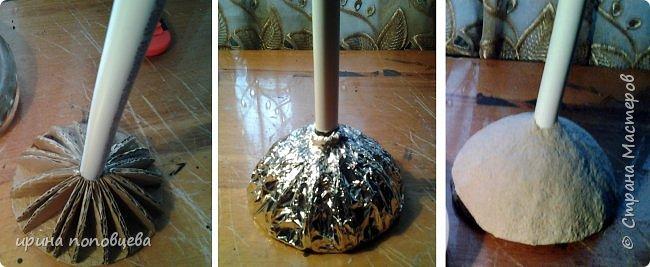 """Дорогие мои Мастера и мастерицы,здравствуйте! Сегодня я пришла к вам с мастер-классом по созданию вазы.За основу взята моя ваза  """"Лиза"""",принявшая участие в прекрасном конкурсе по технике пейп-арт Тани Сорокиной. фото 5"""
