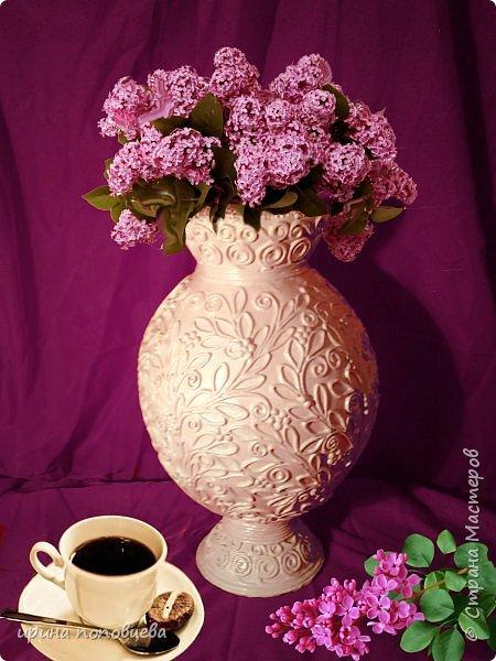 """Дорогие мои Мастера и мастерицы,здравствуйте! Сегодня я пришла к вам с мастер-классом по созданию вазы.За основу взята моя ваза  """"Лиза"""",принявшая участие в прекрасном конкурсе по технике пейп-арт Тани Сорокиной. фото 12"""