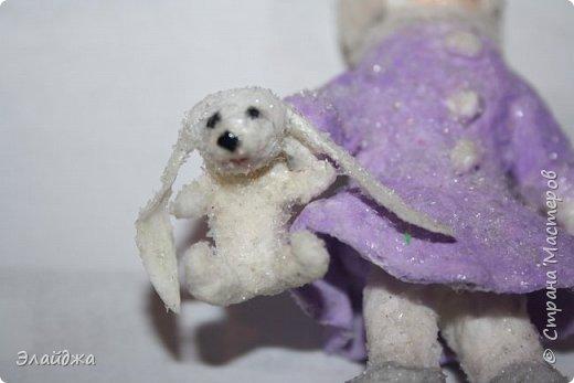 Вот за выходные получилась  Девчушка с зайцем, имя ей еще не придумала, как и цвета в которые  раскрашу.  фото 9