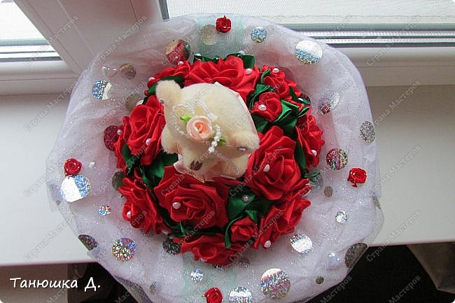 Мой букетик с мишкой на свадьбу. фото 5