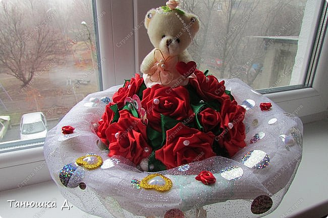 Мой букетик с мишкой на свадьбу. фото 7