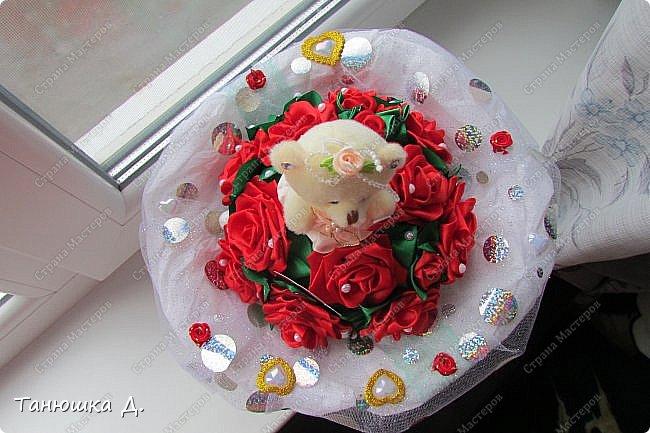 Мой букетик с мишкой на свадьбу. фото 8
