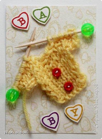 Я небольшой мастер в таком виде рукоделия как вязание , я только учусь. Вот что у меня получилось . Идея не новая , нашла на просторах интернета . И конечно решила воплотить в свои карточки АТС.  фото 2