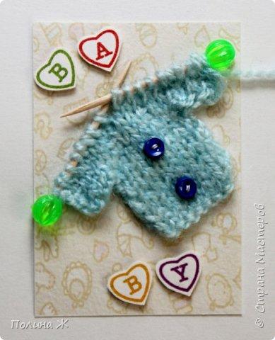 Я небольшой мастер в таком виде рукоделия как вязание , я только учусь. Вот что у меня получилось . Идея не новая , нашла на просторах интернета . И конечно решила воплотить в свои карточки АТС.  фото 4