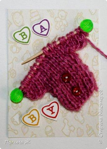 Я небольшой мастер в таком виде рукоделия как вязание , я только учусь. Вот что у меня получилось . Идея не новая , нашла на просторах интернета . И конечно решила воплотить в свои карточки АТС.  фото 5
