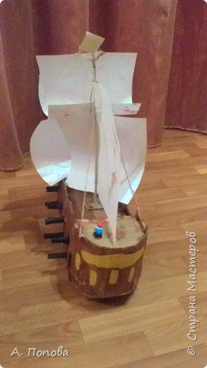 Мой сынуля сделал корабли из картона . Представляет их Вашему вниманию. Один большой и маленькие. фото 4