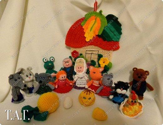 Продолжаю вязать пальчиковые игрушки для внука.  фото 21