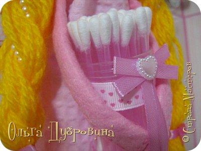 Кукла (фея) для хранения ватных палочек и дисков фото 1