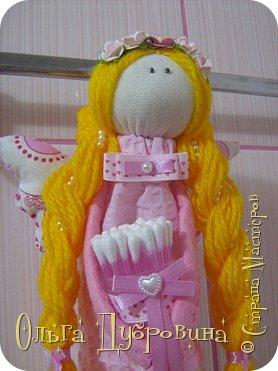 Кукла (фея) для хранения ватных палочек и дисков фото 4