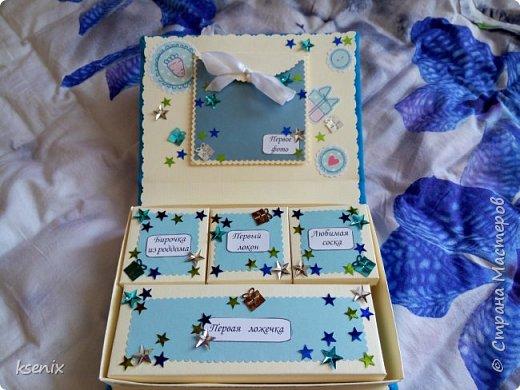 """Насмотревшись на прекрасные работы мастериц нашей страны мастеров , тоже решила сделать одну """"коробочку"""" для новорожденного сыночка подруги :) Большое спасибо за идею  _Oksana_  !!! В итоге вот что получилось :  фото 3"""