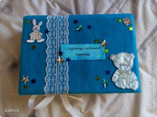 """Насмотревшись на прекрасные работы мастериц нашей страны мастеров , тоже решила сделать одну """"коробочку"""" для новорожденного сыночка подруги :) Большое спасибо за идею  _Oksana_  !!! В итоге вот что получилось :  фото 1"""