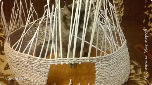 Добрый день дорогие рукодельницы и любители животных. Вот и у моего кота появился свой дом. фото 6