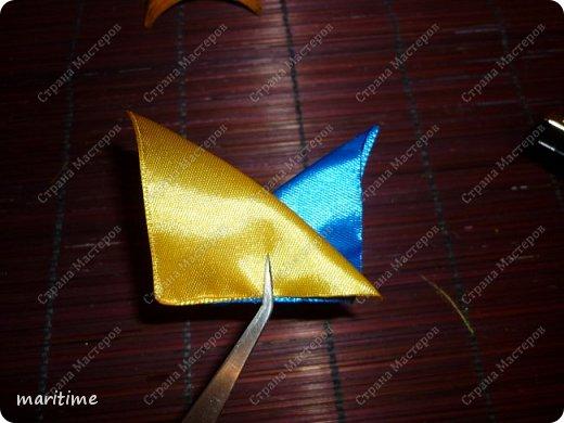Вот  острый двухцветный лепесток канзаши в трёх вариациях фото 4