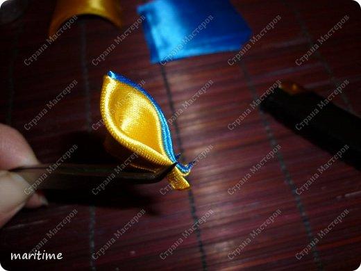 Вот  острый двухцветный лепесток канзаши в трёх вариациях фото 14