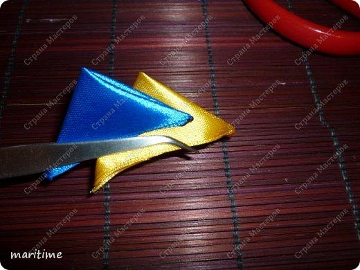 Вот  острый двухцветный лепесток канзаши в трёх вариациях фото 20