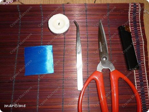 круглый лепесток канзаши из складок фото 2