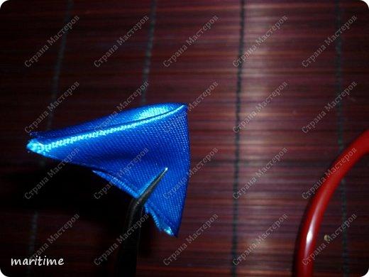 круглый лепесток канзаши из складок фото 4