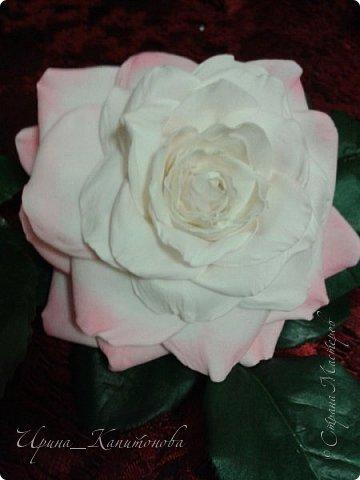 Доброго времени суток всем мастерицам, мастерам и гостям СМ!!! Это моя первая роза из фоамирана....не судите строго:))))) фото 2