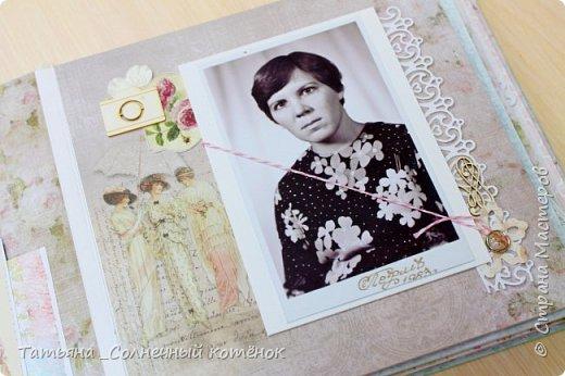 Текстильный фотоальбом для мамы фото 3