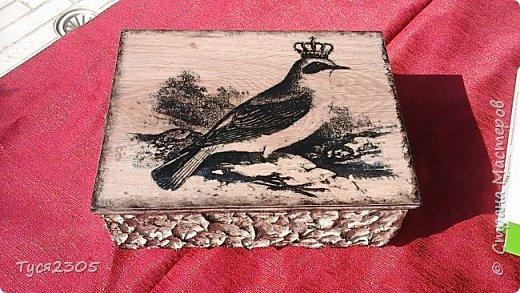 Выпилила шкатулочки из деревянного поддона и обрезков ламината. Собрала в кучу и декорировала фото 1