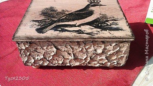Выпилила шкатулочки из деревянного поддона и обрезков ламината. Собрала в кучу и декорировала фото 2