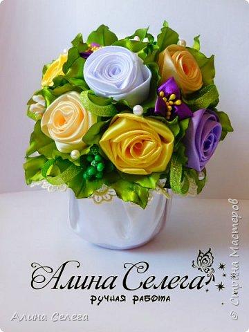 МК - Подарочный горшочек с розами фото 2