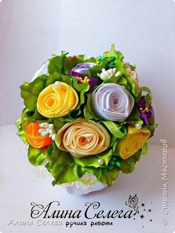 МК - Подарочный горшочек с розами фото 3