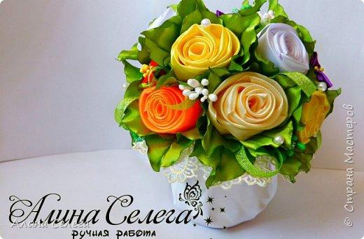 МК - Подарочный горшочек с розами фото 1