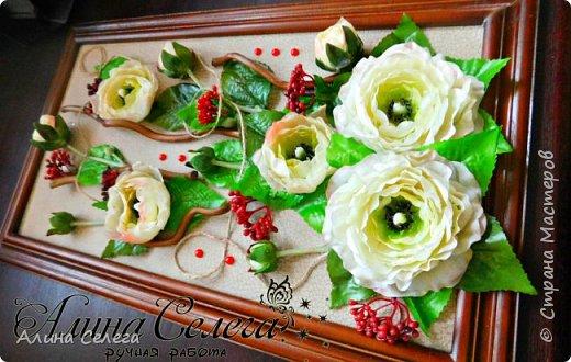 МК картина из готовых цветов/ МК Алина Селега (сборка картины) фото 1