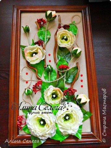 МК картина из готовых цветов/ МК Алина Селега (сборка картины) фото 3