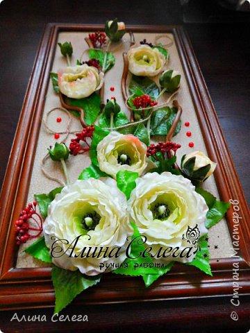 МК картина из готовых цветов/ МК Алина Селега (сборка картины) фото 2