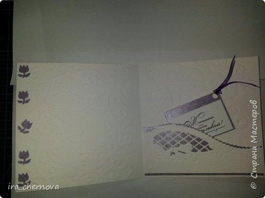 Открытка. Получилась случайно, попалась в руки картинка, ну и сразу захотелось сделать такую открытку. фото 3