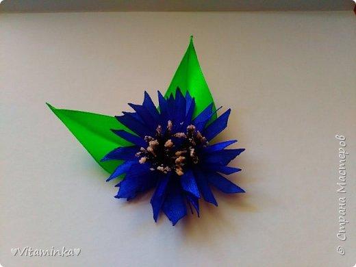 Цветы из лент фото 1