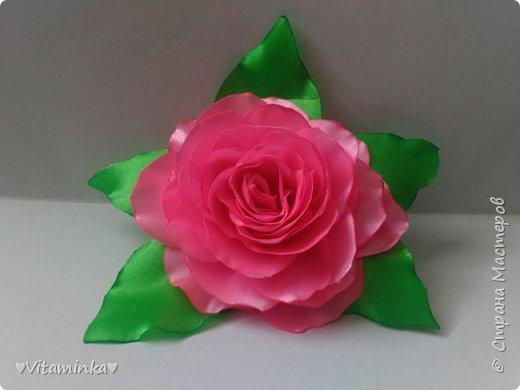 Цветы из лент фото 4