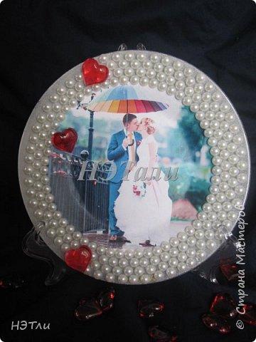 Декоративная тарелка - фоторамка