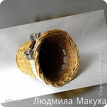 Шкатулка с цветком из акварельной бумаги, бирочка- декупаж салфеткой, шарики из бумажной лозы фото 10