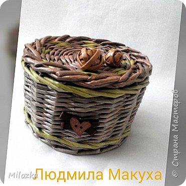 Шкатулка с цветком из акварельной бумаги, бирочка- декупаж салфеткой, шарики из бумажной лозы фото 4
