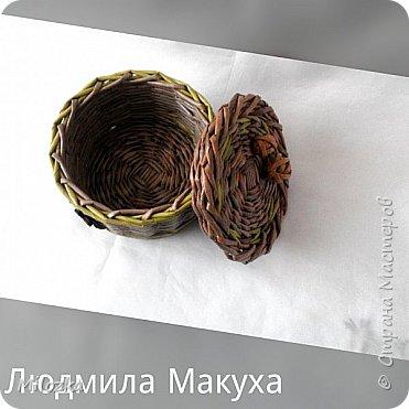 Шкатулка с цветком из акварельной бумаги, бирочка- декупаж салфеткой, шарики из бумажной лозы фото 6