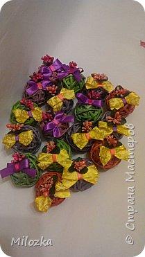 Шкатулка с цветком из акварельной бумаги, бирочка- декупаж салфеткой, шарики из бумажной лозы фото 12