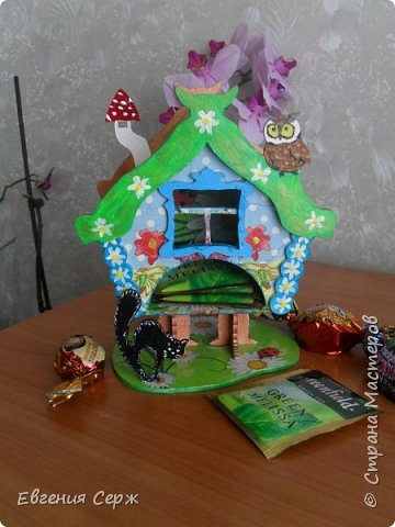 Всем добрый вечер или у кого день!!! Очередной чайный домик из хомячих запасов(осталось немножко) фото 1