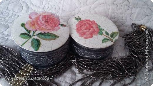 Маленькие шкатулочки... имитация старого серебра и фарфора) фото 1