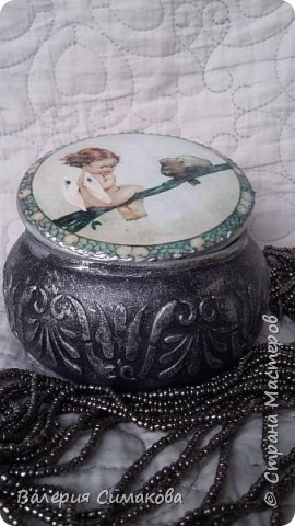 Маленькие шкатулочки... имитация старого серебра и фарфора) фото 6