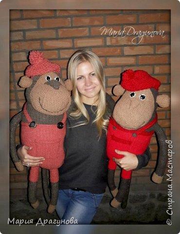 Всем приветик) К Новому году у нас родились вот такие вот обезьянки. начну показывать с самой большой)  фото 2