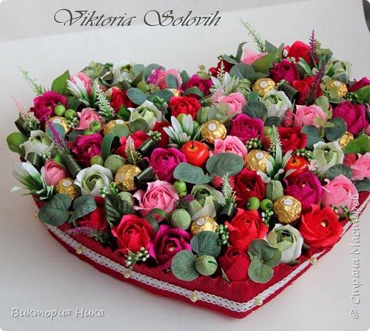 Добрый вечер!а у меня вот такое сердце создалось на День Рождения Мамы заказали..79 конфет Ферреро, Осенний Вальс,Фундук Петрович. фото 2