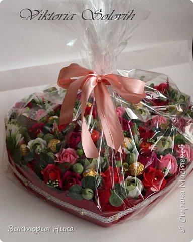 Добрый вечер!а у меня вот такое сердце создалось на День Рождения Мамы заказали..79 конфет Ферреро, Осенний Вальс,Фундук Петрович. фото 3
