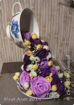 Чаша с цветами фото 4