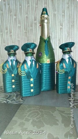 Подарочные бутылочки на 23 февраля фото 1