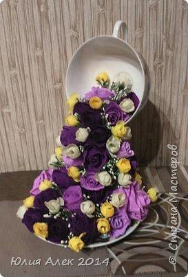 Чаша с цветами фото 1