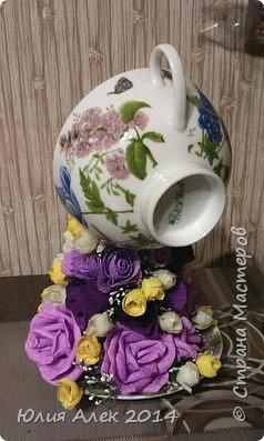 Чаша с цветами фото 2