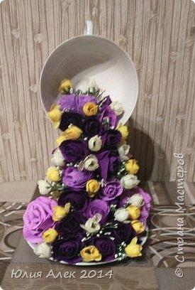 Чаша с цветами фото 3
